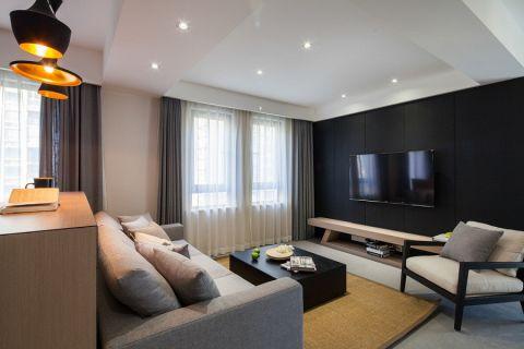 混搭风格100平米小户型房子装饰效果图