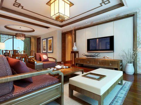 客厅吊顶中式风格效果图