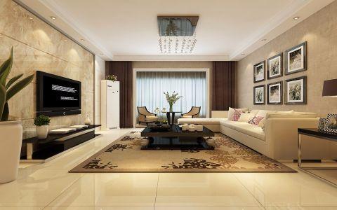 16万预算120平米三室两厅装修效果图