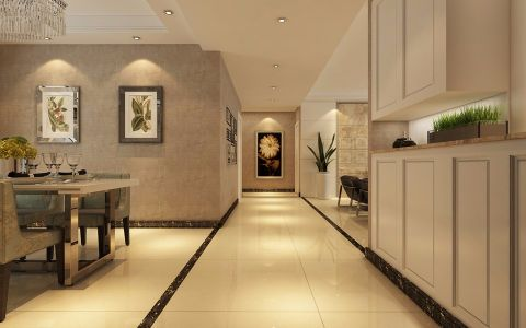 餐厅走廊现代简约风格装潢图片