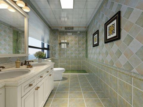 卫生间背景墙简约风格装潢图片