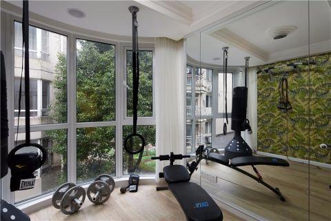 健身房背景墙美式风格装饰效果图