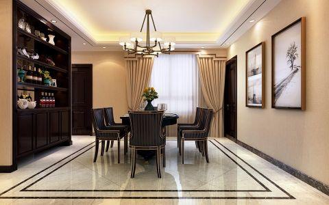 餐厅黄色窗帘现代简约风格装潢设计图片