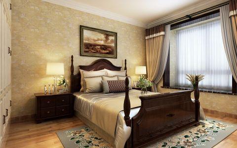 卧室黄色背景墙现代简约风格装饰效果图