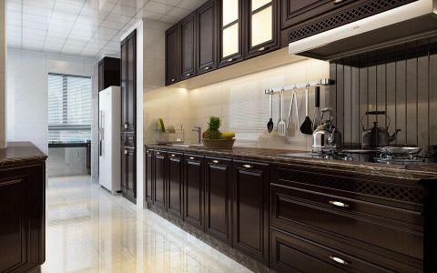 厨房米色背景墙现代简约风格装修设计图片