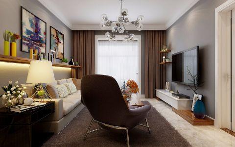 3万预算95平米两室两厅装修效果图