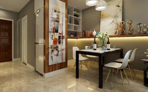 餐厅背景墙现代简约风格装潢效果图