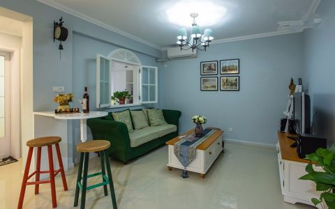 客厅沙发地中海风格装饰设计图片