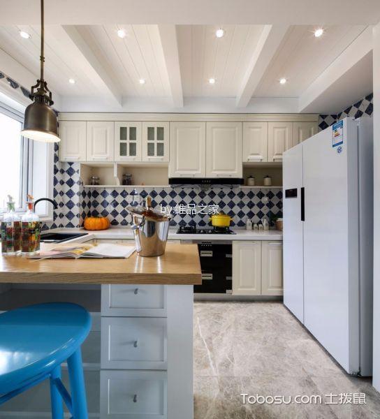 厨房白色吊顶美式风格装饰图片