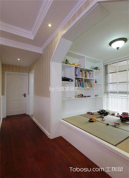 阳台白色榻榻米美式风格装潢效果图