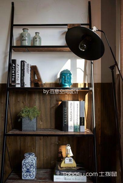 书房咖啡色沙发混搭风格装修设计图片