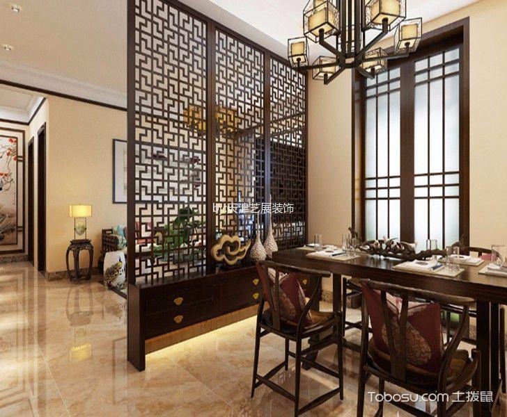 餐厅 吊顶_5万预算120平米三室两厅装修效果图