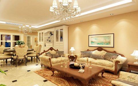 26万预算140平米三室两厅装修效果图