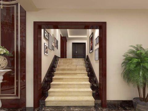 玄关楼梯新中式风格装饰图片