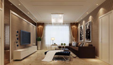 13.8万预算120平米三室两厅装修效果图