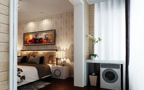 阳台窗帘现代简约风格装潢图片