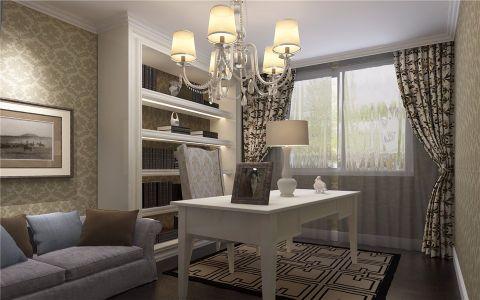 书房吊顶现代简约风格装修设计图片