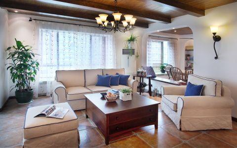 6.73万预算120平米三室两厅装修效果图