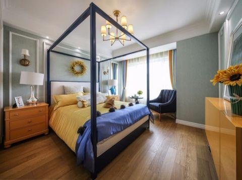 卧室床头柜美式风格装修设计图片