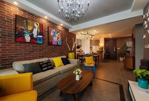 6.2万预算89平米两室两厅装修效果图