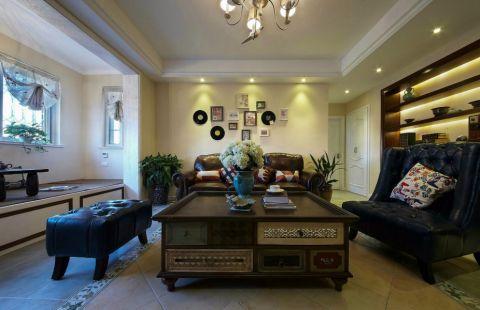 8.5万预算122平米两室两厅装修效果图