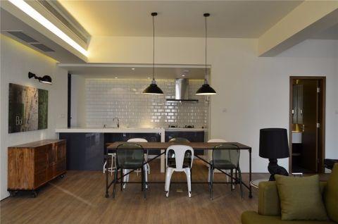 餐厅白色吧台简约风格装饰设计图片