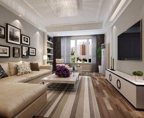 客厅灰色照片墙现代风格装修效果图