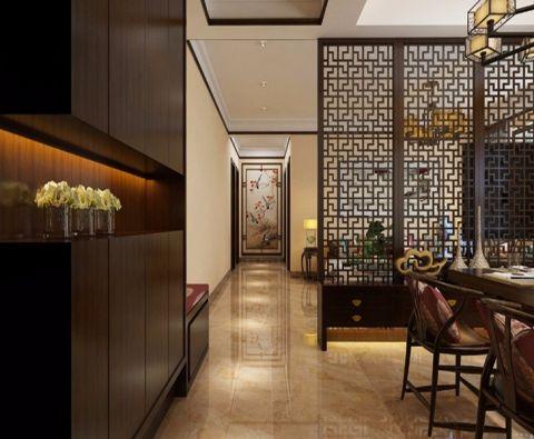 玄关米色吊顶新中式风格装饰设计图片