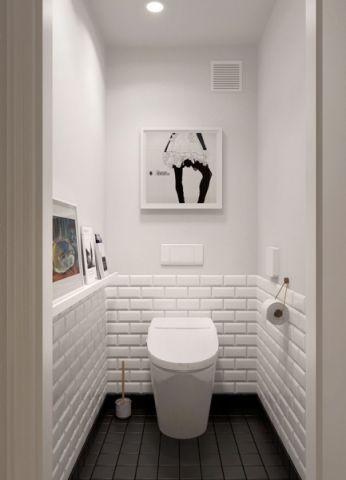 卫生间背景墙简约风格装潢设计图片