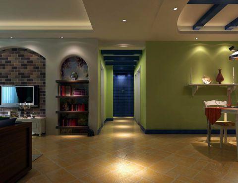 玄关走廊地中海风格装饰设计图片