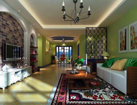 客厅背景墙地中海风格装饰效果图