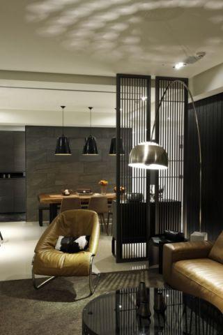 客厅隔断现代简约风格装饰效果图