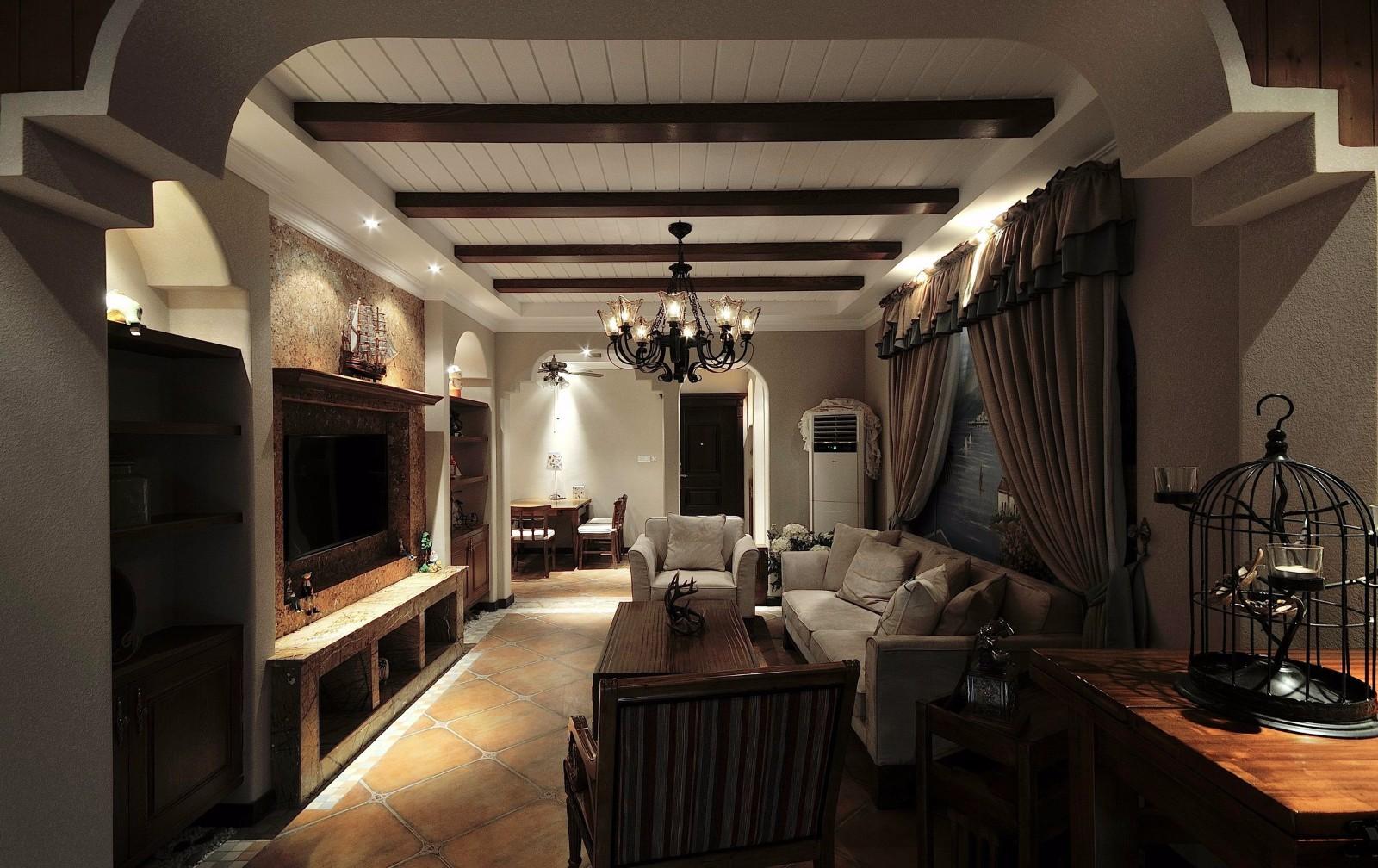 3室1卫2厅90平米地中海风格