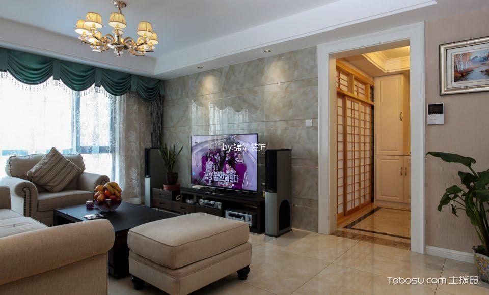 21世纪现代城现代简约两室效果图
