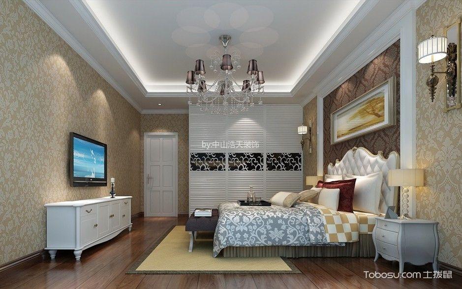 卧室 背景墙_15万预算160平米四室两厅装修效果图
