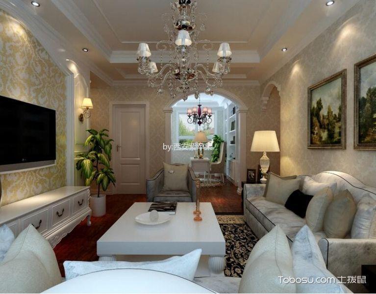 5.2万预算110平米两室两厅装修效果图