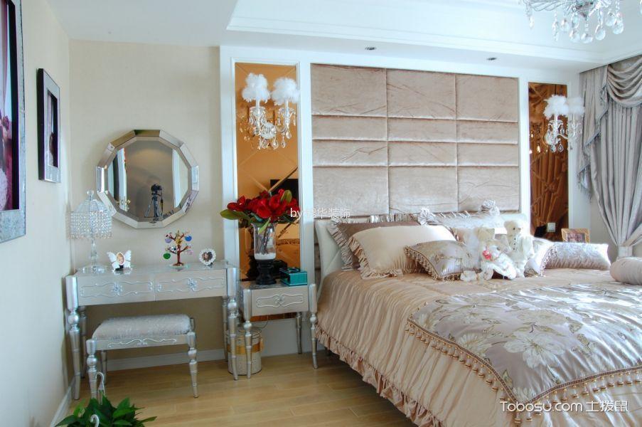 卧室白色梳妆台简欧风格装饰图片
