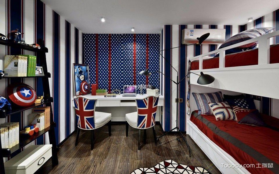 儿童房彩色床混搭风格装潢图片