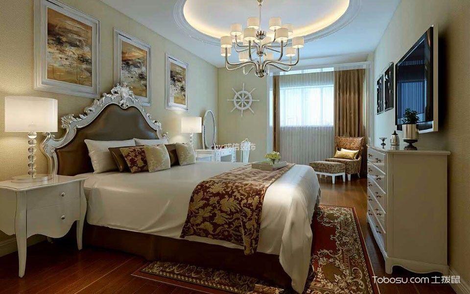 卧室白色梳妆台简欧风格装修图片