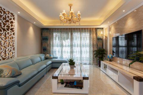 20万预算110平米两室两厅装修效果图