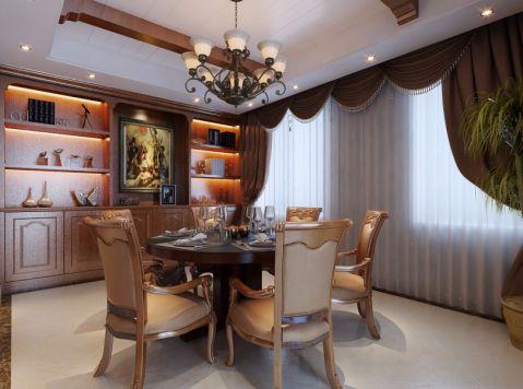 餐厅博古架美式风格装修效果图