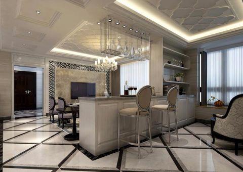 客厅吧台简欧风格装潢效果图