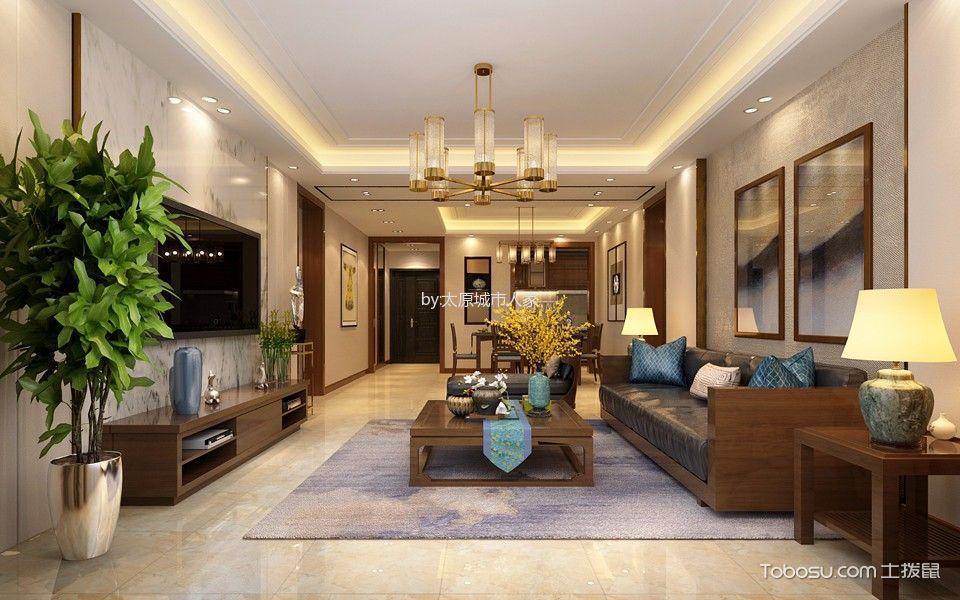 5万预算170平米三室两厅装修效果图