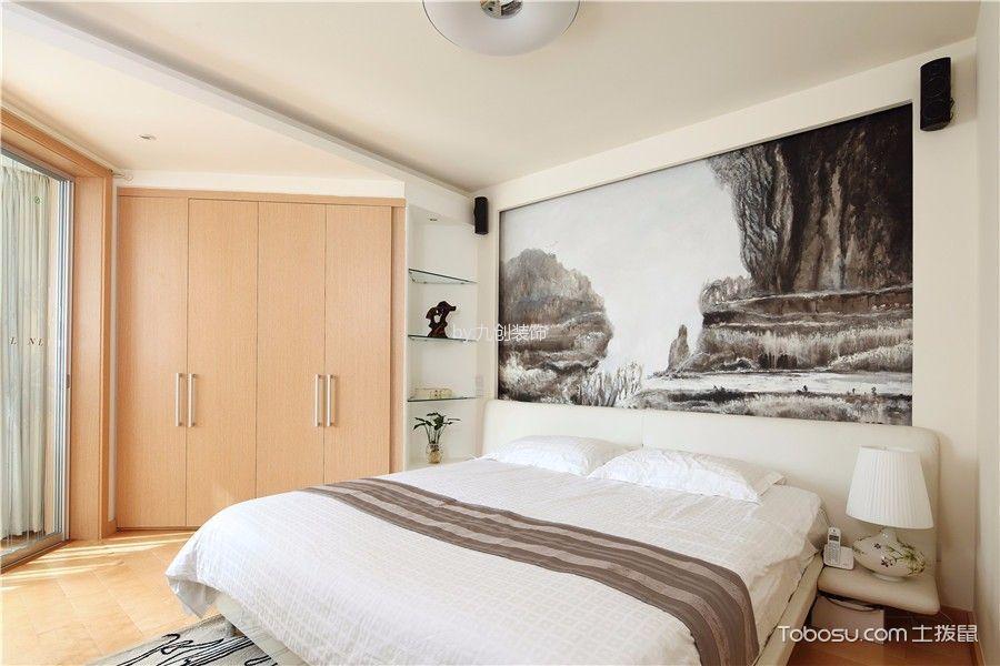 卧室黄色书架现代简约风格装修效果图