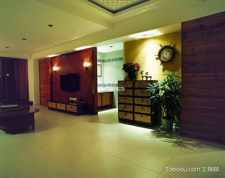 东南亚风格143平米4房2厅房子装饰效果图