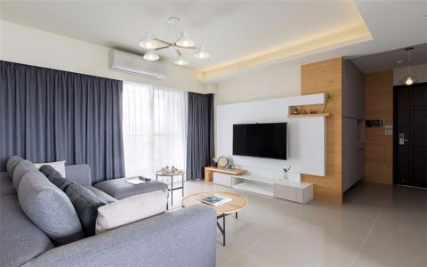 5.2万预算100平米三室两厅装修效果图