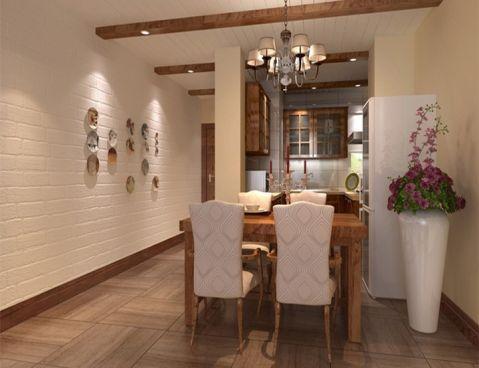 餐厅背景墙简欧风格装潢设计图片