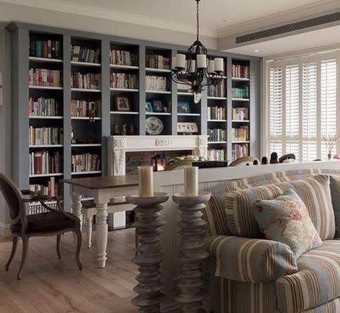 书房书架简欧风格装饰设计图片
