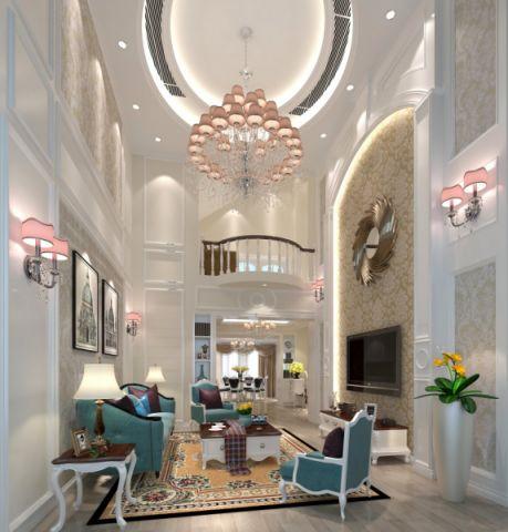 简欧风格260平米复式房子装饰效果图