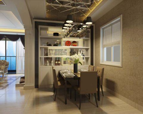 餐厅博古架欧式风格装潢设计图片